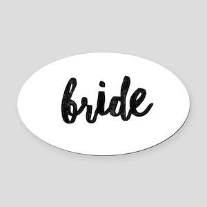 Wedding Party- Bride Oval Car Magnet
