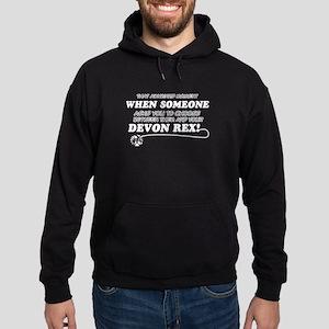 Devon Rex cat gifts Hoodie (dark)