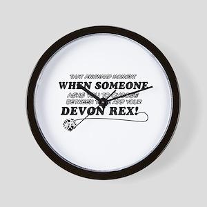 Devon Rex cat gifts Wall Clock