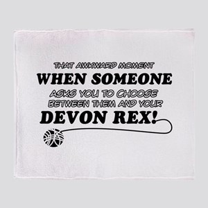 Devon Rex cat gifts Throw Blanket