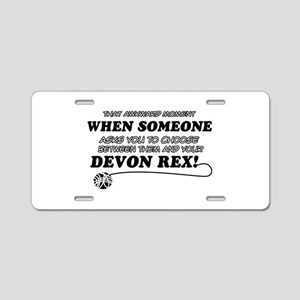 Devon Rex cat gifts Aluminum License Plate