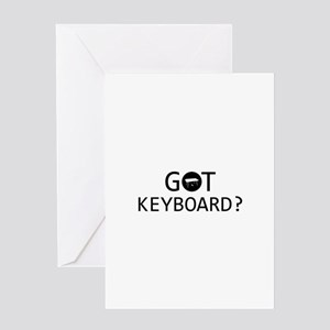 Got Keyboard musical designs Greeting Card
