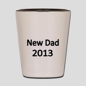 New Dad 2013-black Shot Glass
