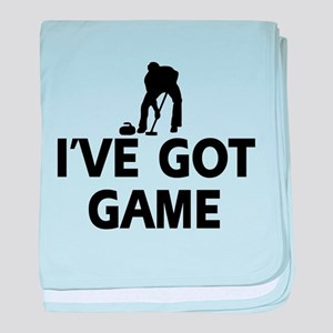 I've got game Curling designs baby blanket