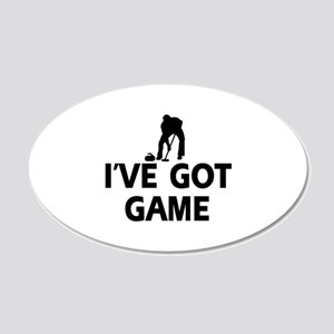 I've got game Curling designs 20x12 Oval Wall Deca