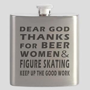 Beer Women And Figure Skating Flask