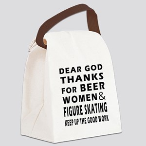 Beer Women And Figure Skating Canvas Lunch Bag