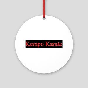 Kempo Karate Ornament (Round)