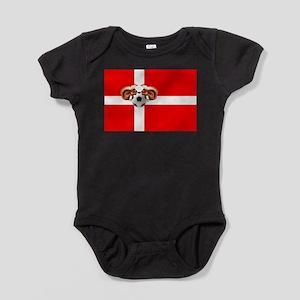 Danish Football Flag Baby Bodysuit