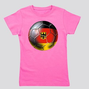 German Soccer Ball Girl's Tee