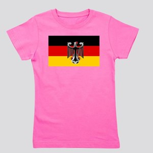 German Soccer Flag Girl's Tee