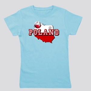 Polish Flag Map Girl's Tee