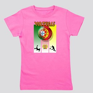 Portugal Football Soccer Girl's Tee