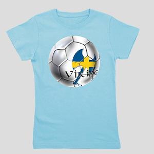 Sweden Soccer Ball Girl's Tee