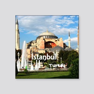 "Istanbul Square Sticker 3"" x 3"""