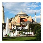 "Istanbul Square Car Magnet 3"" x 3"""