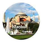 Istanbul Round Car Magnet