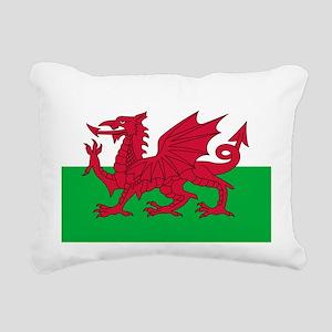 Welsh Flag of Wales Rectangular Canvas Pillow