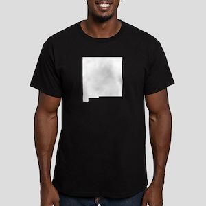 White Men's Fitted T-Shirt (dark)
