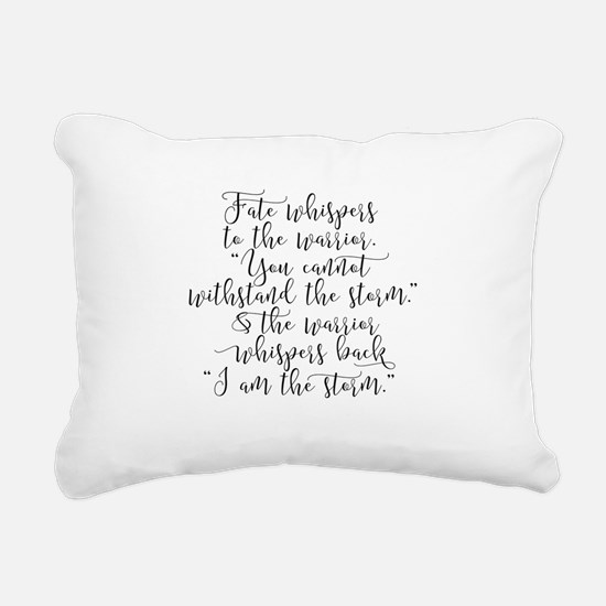 Fate Whispers Rectangular Canvas Pillow