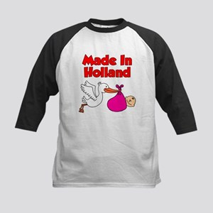 Made In Holland Girl Baseball Jersey