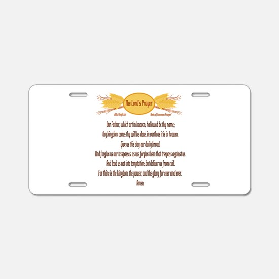 The Lords Prayer Wheat Aluminum License Plate