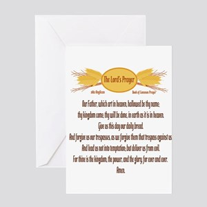 The Lords Prayer Wheat Greeting Card