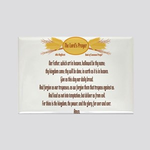 The Lords Prayer Wheat Rectangle Magnet