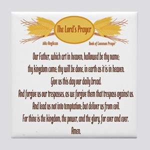 The Lords Prayer Wheat Tile Coaster