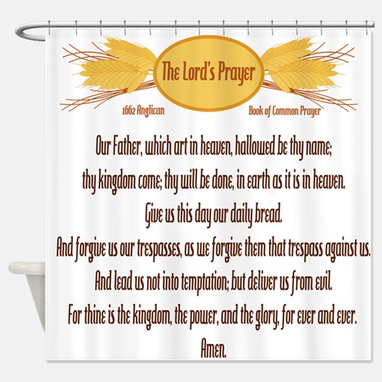 The Lords Prayer Wheat Shower Curtain