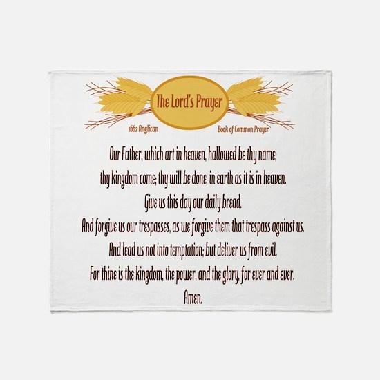 The Lords Prayer Wheat Throw Blanket