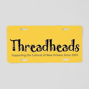 Threadhead Aluminum License Plate (yellow)