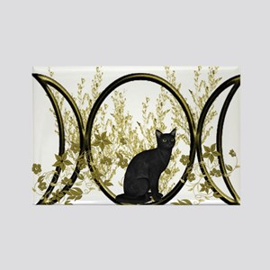Triple Moon Art Series Cat Rectangle Magnet