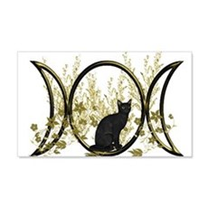 Triple Moon Art Series Cat Wall Decal