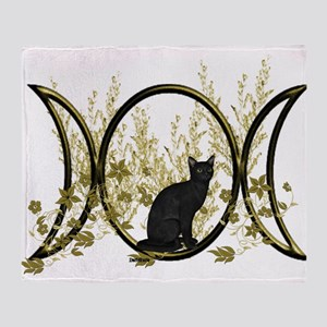 Triple Moon Art Series Cat Throw Blanket