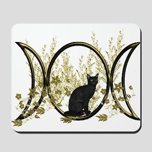 Triple Moon Art Series Cat Mousepad