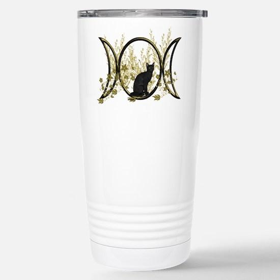 Triple Moon Art Series Cat Travel Mug