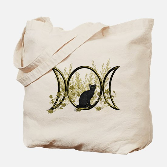 Triple Moon Art Series Cat Tote Bag