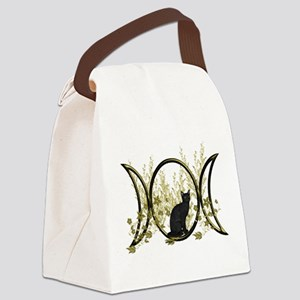 Triple Moon Art Series Cat Canvas Lunch Bag