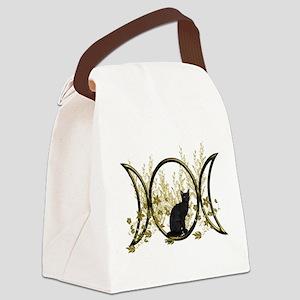 Triple Moon Art Series Cat Canvas Lunch Bag