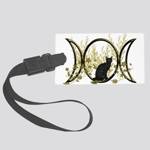 Triple Moon Art Series Cat Luggage Tag