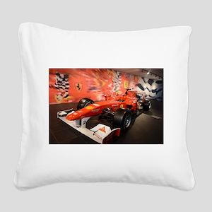 formula 1 Square Canvas Pillow