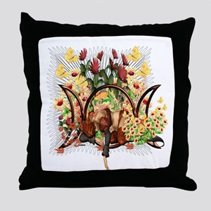 Triple Moon Art Series 6 Throw Pillow