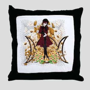 Triple Moon Art Series 9 Throw Pillow
