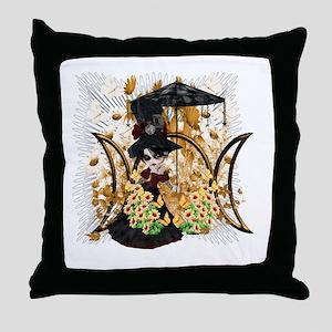 Triple Moon Art Series 10 Throw Pillow