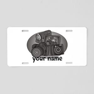 Shutter Bug Aluminum License Plate