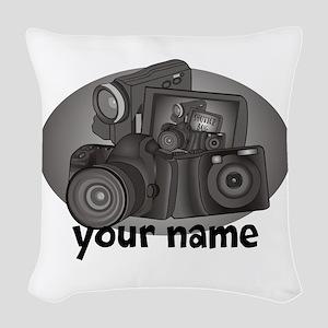 Shutter Bug Woven Throw Pillow