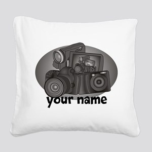 Shutter Bug Square Canvas Pillow