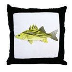 Yellow Bass fish 2 Throw Pillow