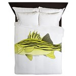 Yellow Bass fish 2 Queen Duvet